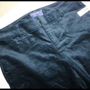 Mid-rise Pixie Velvet Pants